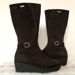 Pajar Tall Wedge Heel Snow Boots Brown Suede 11